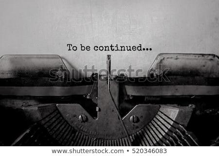 ヴィンテージ タイプライター オフィス 図書 作業 黒 ストックフォト © sqback