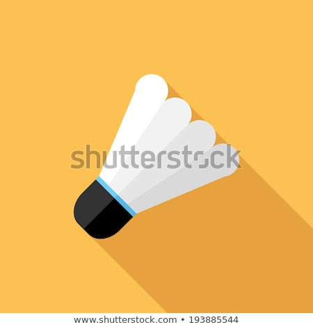 retro flat badminton icon concept. vector illustration design Stock photo © Linetale
