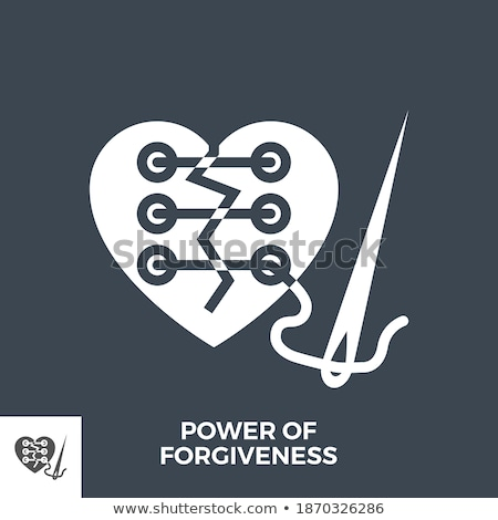 Power of Forgiveness Glyph Vector Icon. Stock photo © smoki
