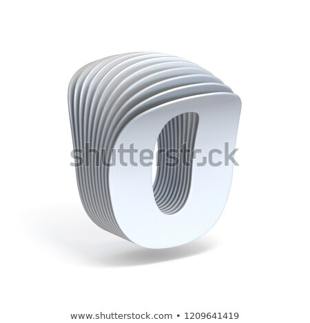 Curved paper sheets Number 0 ZERO 3D Stock photo © djmilic