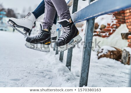 low section of a figure ice skater stock photo © kzenon