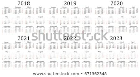 Ouro mudar ano novo ilustração 3d calendário Foto stock © Oakozhan