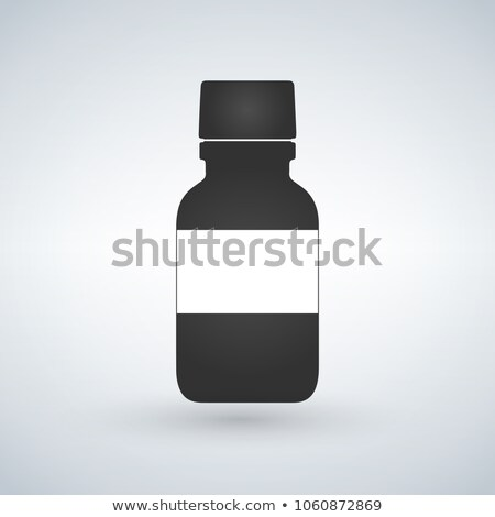 Pills bottle icon with space to write. Modern pill bottle for pi Stock photo © kyryloff