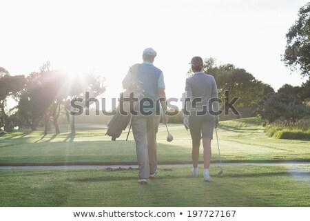男 · ゴルフバッグ · 草 · スポーツ · イーグル - ストックフォト © kzenon