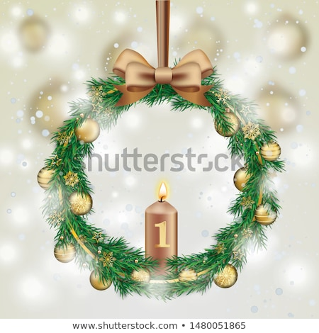 веселый Рождества приход венок Сток-фото © limbi007