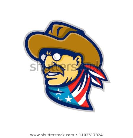 Theodore Roosevelt Jr Mascot Stock photo © patrimonio