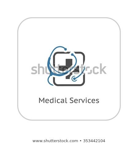 Lek medycznych usług ikona projektu schowek Zdjęcia stock © WaD
