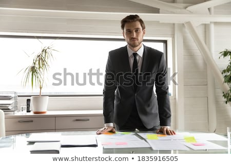 Man in Formal Wear with List of Paper, Businessman Stock photo © robuart