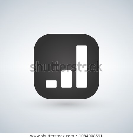 Chart simple icon over black app button. Report graph or Sales g Stock photo © kyryloff