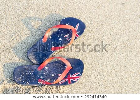 Aussie thongs on beach in summer Stock photo © lovleah