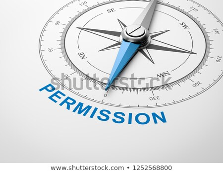 Compass on White Background, Permission Concept Stock photo © make
