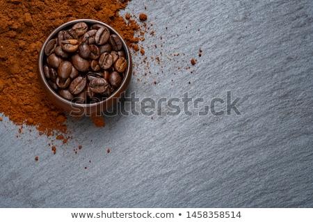 Kahve karton fincan taze kahve çekirdekleri taş Stok fotoğraf © DenisMArt