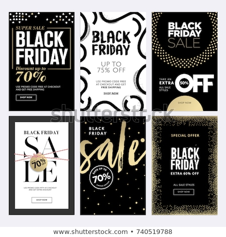 black friday sale promo sticker advertising coupon stock photo © robuart