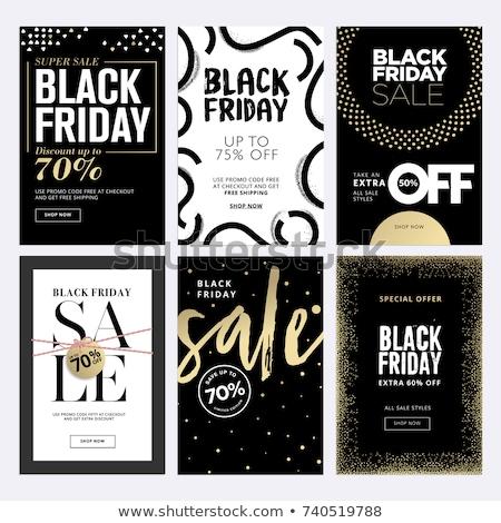 black · friday · sprzedaży · promo · naklejki · reklamy - zdjęcia stock © robuart
