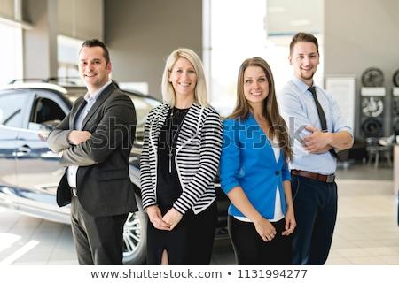 Business team car seller on the car room Stock photo © Lopolo