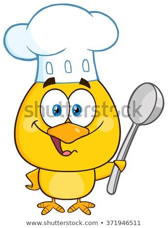 Felice chef giallo chick Foto d'archivio © hittoon