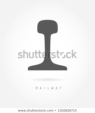 Rail logo icon spoorweg business weg Stockfoto © ESSL