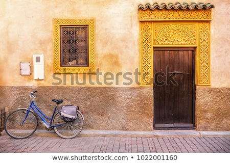 Old moroccan wooden frames Stock photo © boggy