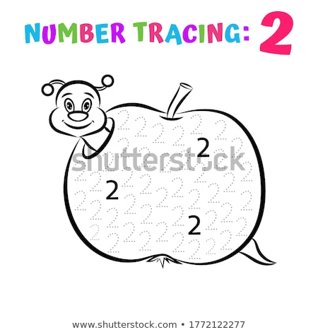 Writing number tracing worksheets Stock photo © colematt