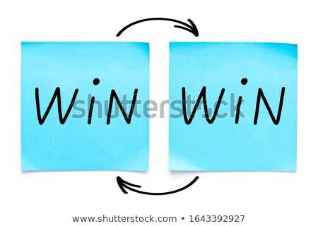 Pijlen sticky note Geel kurk boord Stockfoto © ivelin