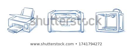 3D nyomtatás technológia kézzel rajzolt skicc firka Stock fotó © RAStudio