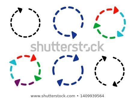 pijlen · cirkel · lus · geïsoleerd · witte · achtergrond - stockfoto © kyryloff