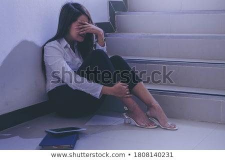 печально · плачу · женщину · отчаяние · психическое · здоровье · проблема - Сток-фото © artjazz