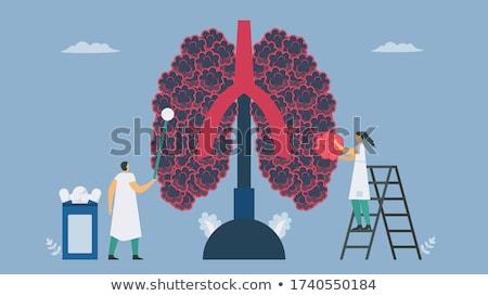 akciğer · kanseri · tehlikeli · solunum · hastalık · adam · solunum - stok fotoğraf © rastudio