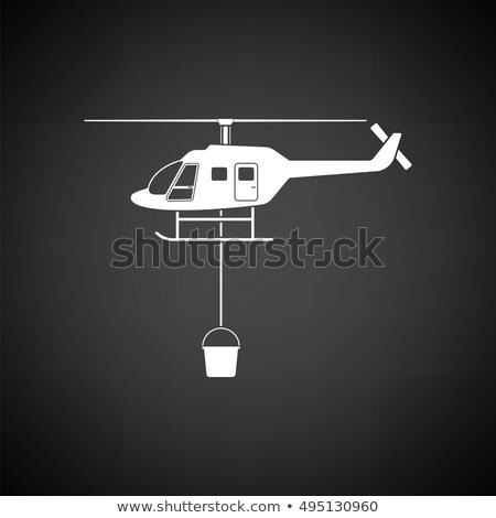 огня службе вертолета икона цвета дизайна Сток-фото © angelp