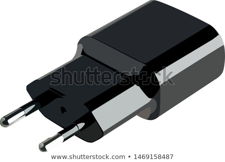 Realistic Wire Plug Of Charger Adapter Vector Stock photo © pikepicture