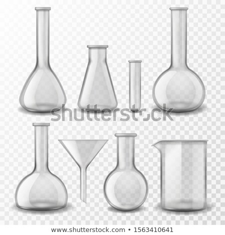 Labor transparent Glasgeschirr Instrument Vektor Kolben Stock foto © pikepicture