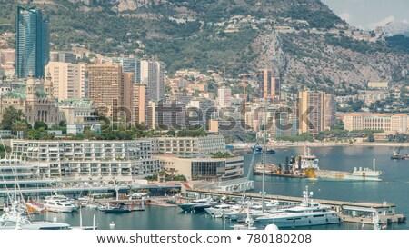 Monaco cityscape and coastline colorful nature of Cote d'Azur vi Stock photo © xbrchx