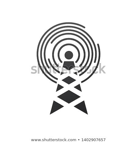 Komórka wieża kółko fale elektryczne słup Zdjęcia stock © kyryloff