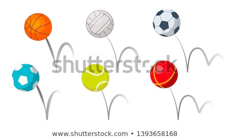 Bounce Balls Sport Playing Equipment Set Vector Stock photo © pikepicture
