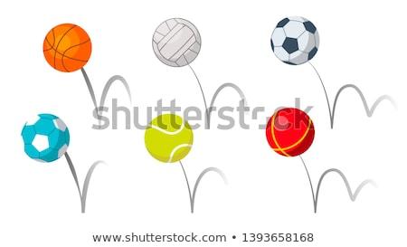 colorido · vetor · voleibol · bola · abstrato - foto stock © pikepicture