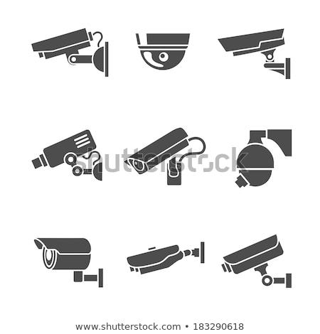 vídeo · cctv · cámara · icono · blanco - foto stock © pikepicture