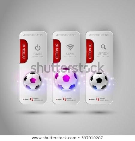 Rood bon voetbal sport spel sjabloon Stockfoto © pikepicture