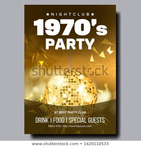 Kleurrijk partij discotheek banner vector heldere Stockfoto © pikepicture