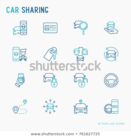 Carsharing icons set Stock photo © jossdiim