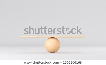 Erő egyensúly stabilitás szimbólum összetett kép Stock fotó © Lightsource
