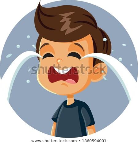 kid boy emotional outburst illustration stock photo © lenm