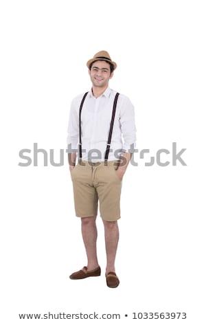 Homem seis ligas isolado homem branco Foto stock © Elnur