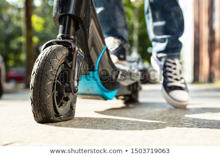 Flat Tire On E-Scooter Stock photo © AndreyPopov