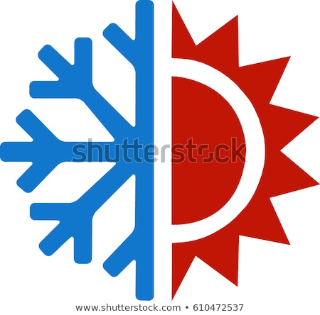 Building And Snowflake Cooling Equipment Vector Stock photo © pikepicture