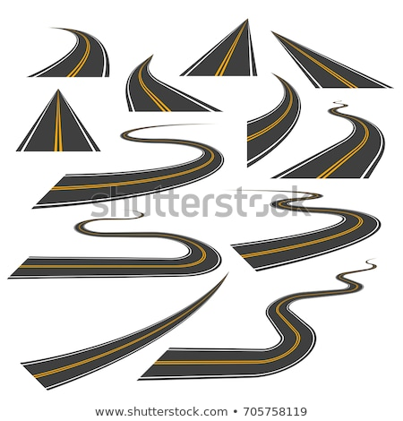 Curva estradas amarelo projeto estrada Foto stock © SArts