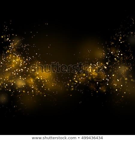 Abstrato preto dourado partículas trilha energia Foto stock © SArts