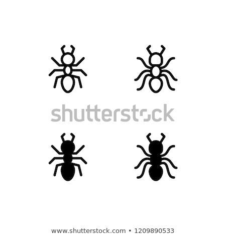 Mier icon insect hand blad Stockfoto © bspsupanut