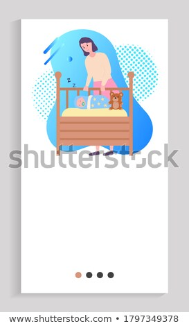 Mother Standing near Sleeping Baby Web Slider App Stock photo © robuart