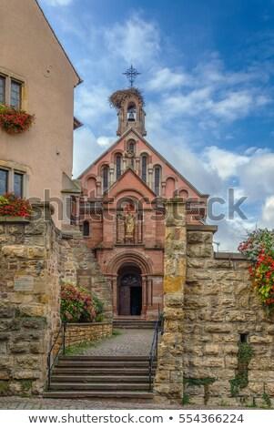 st leo chapel eguisheim alsace france stock photo © borisb17