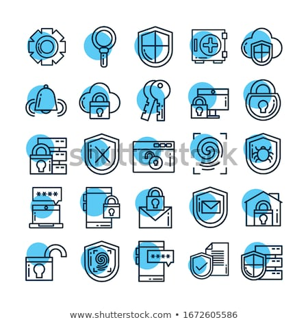 data protection   line design style icons set stock photo © decorwithme